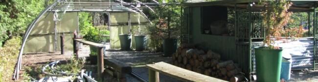 Start Treibhaus-Bau auf meinem alten Grill-Platz